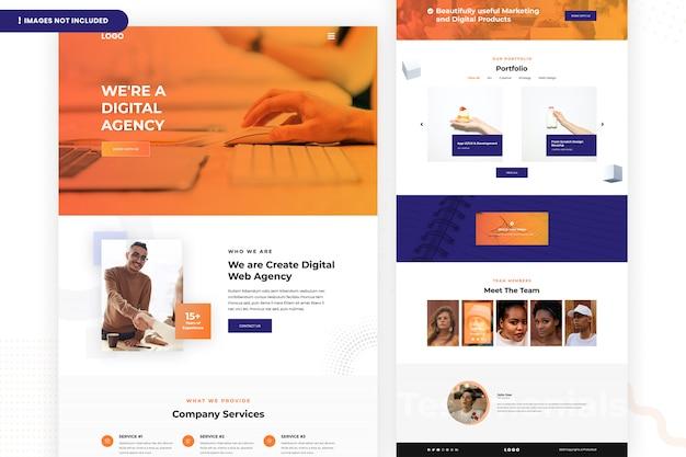 Página de destino da agência digital