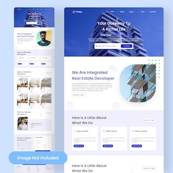 Página de destino da agência imobiliária
