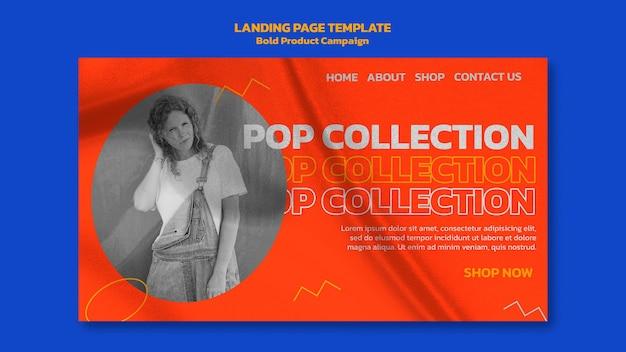 Página de destino da campanha do produto