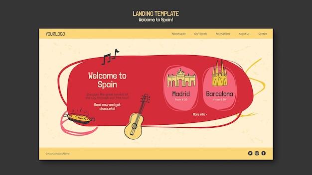 Página de destino da cultura espanhola