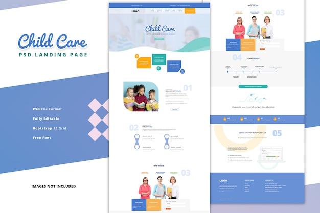Página de destino da educação on-line em sala de aula da escola primária e secundária