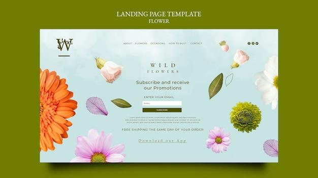 Página de destino da flowershop
