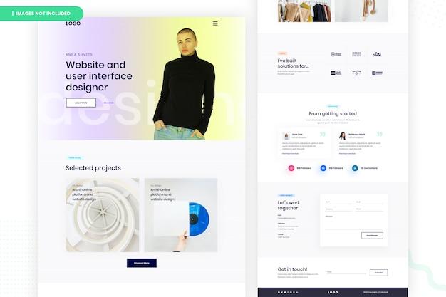 Página de destino da interface do usuário