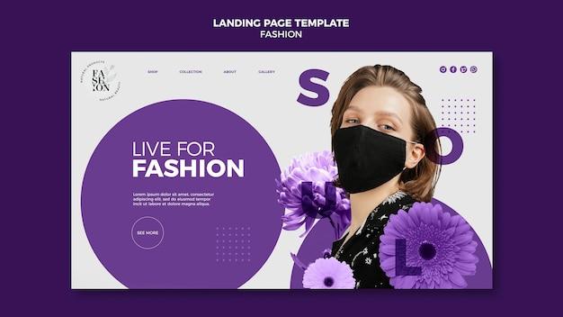 Página de destino da moda