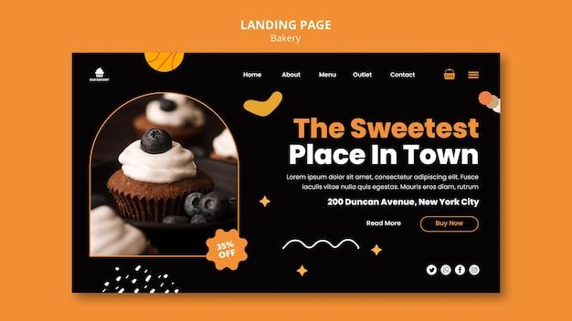 Página de destino da padaria