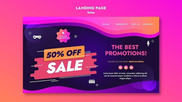 Página de destino das ofertas de vendas