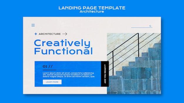 Página de destino de arquitetura