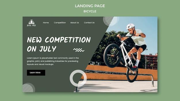 Página de destino de bicicleta