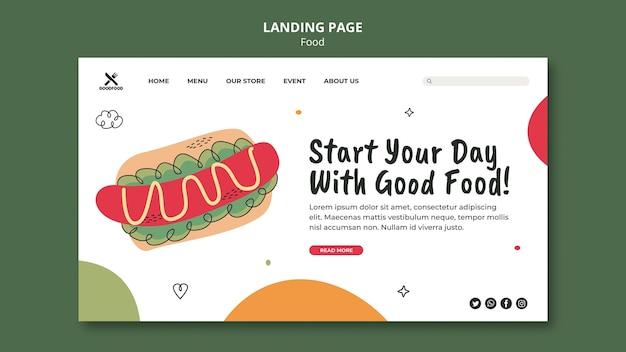 Página de destino de comida deliciosa