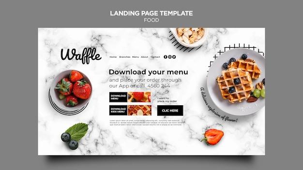 Página de destino de comida deliciosa Psd Premium