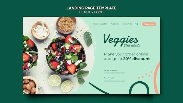 Página de destino de comida saudável