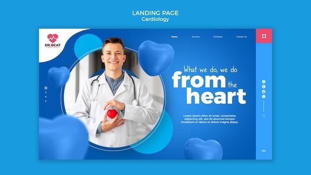 Página de destino de coração em coração