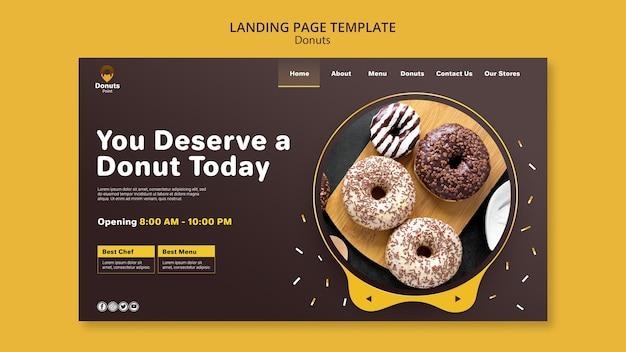 Página de destino de deliciosos donuts