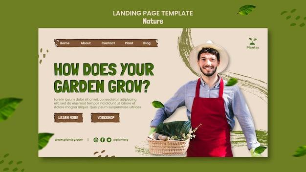 Página de destino de dicas de jardinagem