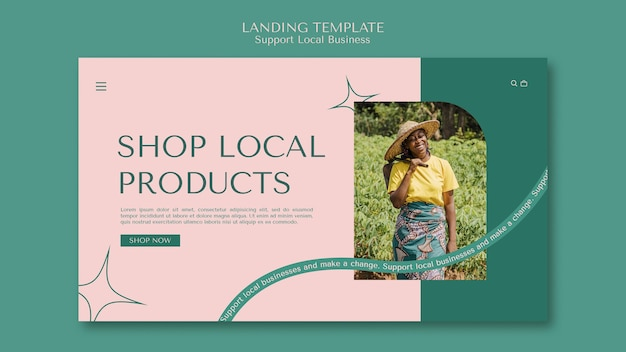 Página de destino de empresa local