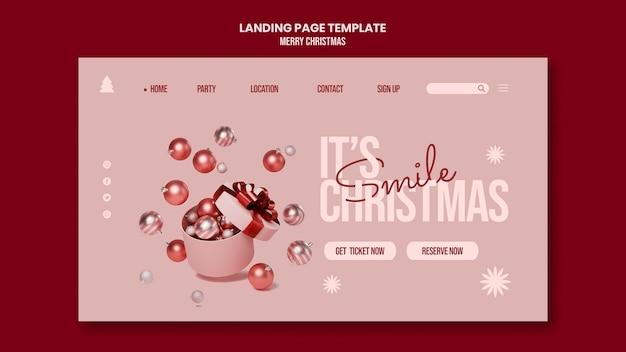Página de destino de feliz natal Psd grátis