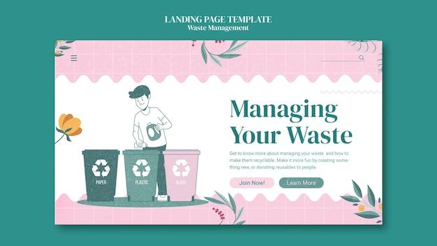 Página de destino de gerenciamento de resíduos