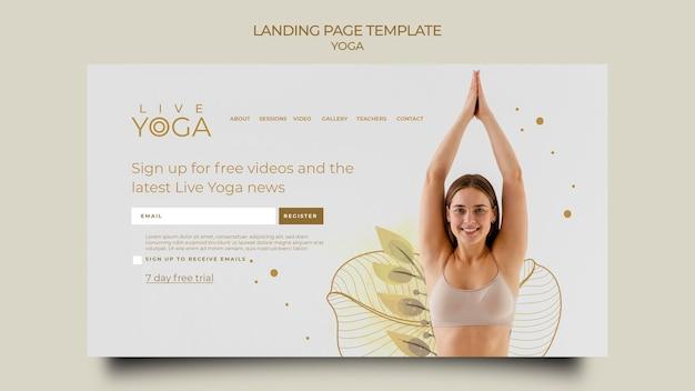 Página de destino de ioga ao vivo