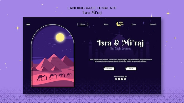 Página de destino de isra miraj