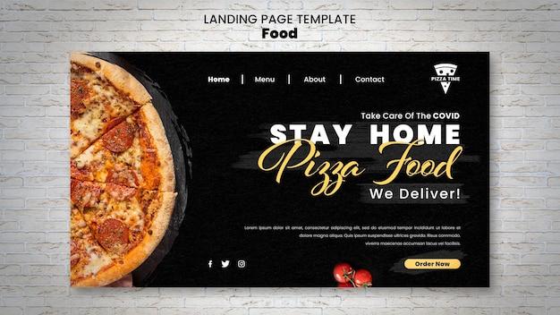 Página de destino de pizza deliciosa
