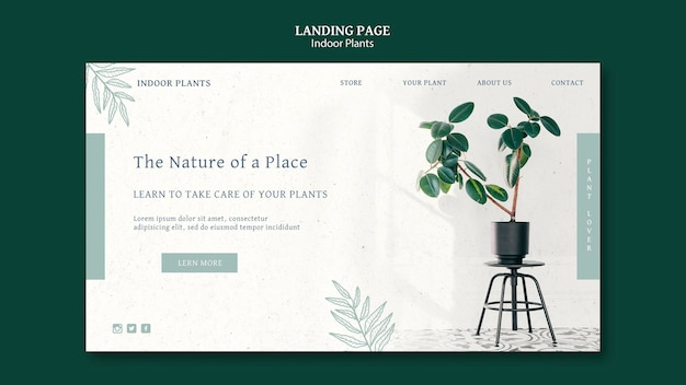 Página de destino de plantas de interior
