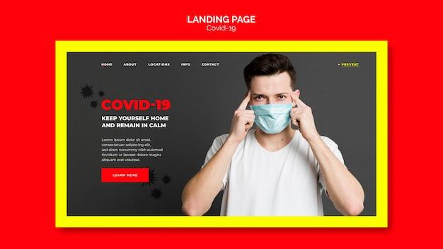 Página de destino de prevenção de coronavírus