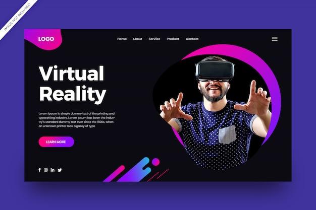 Página de destino de realidade virtual