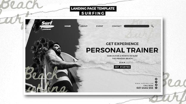 Página de destino de surf