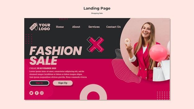 Página de destino de venda de compras