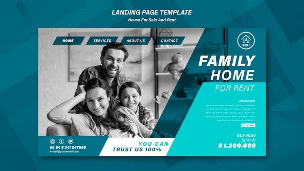 Página de destino de venda doméstica