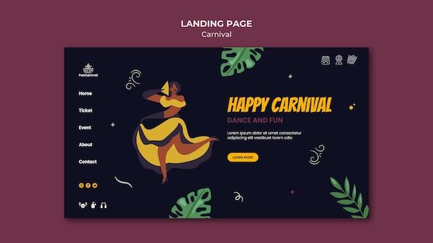 Página de destino do carnaval