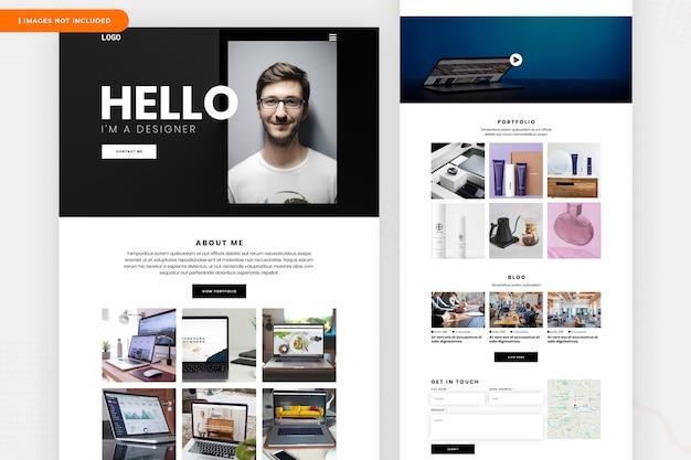 Página de destino do designer freelancer