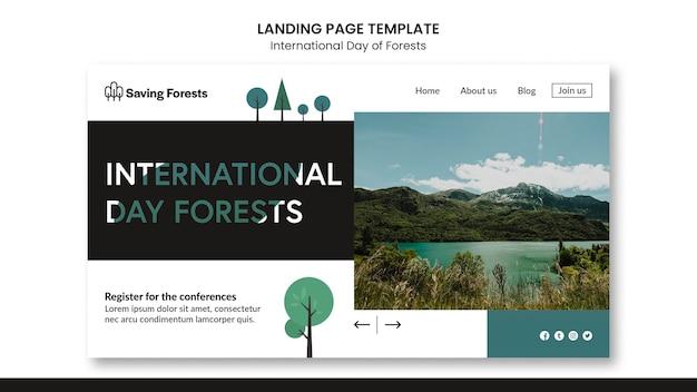 Página de destino do dia internacional das florestas