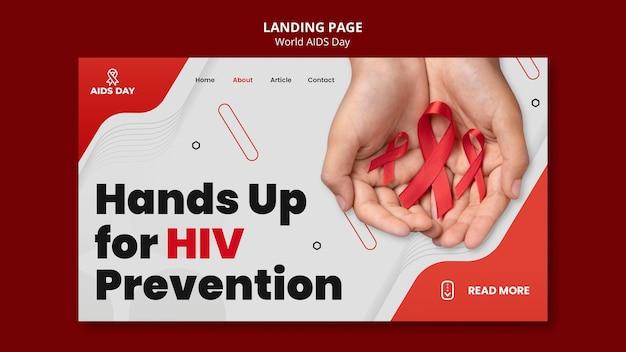 Página de destino do dia mundial da aids