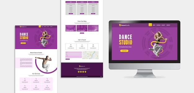 Página de destino do estúdio de dança