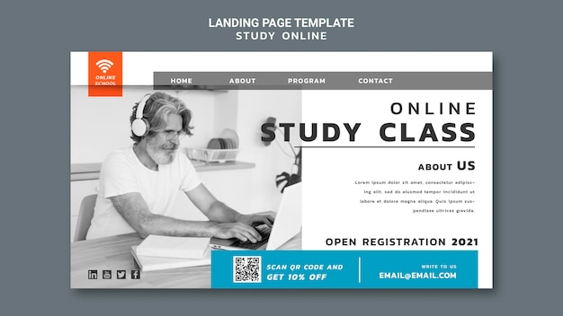 Página de destino do estudo online