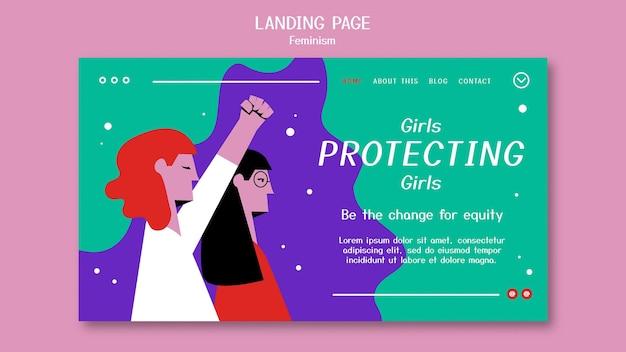 Página de destino do feminismo
