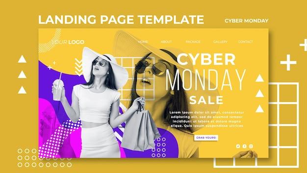 Página de destino do modelo cyber monday