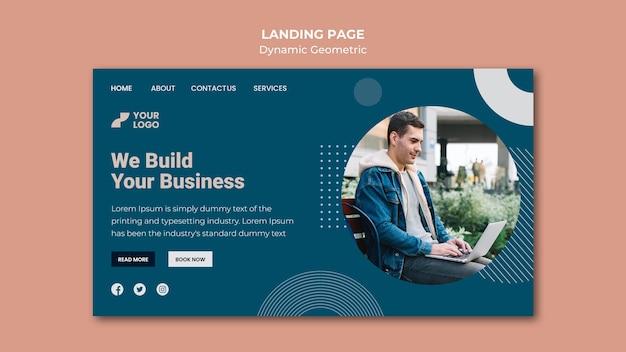 Página de destino do modelo de anúncio comercial