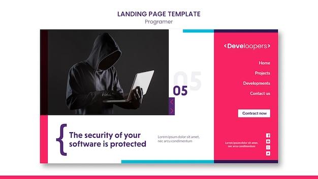 Página de destino do modelo de anúncio do programador