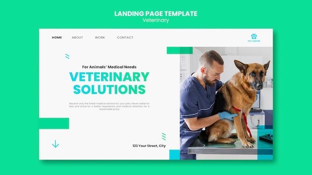 Página de destino do modelo de anúncio veterinário