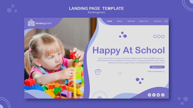 Página de destino do modelo de jardim de infância