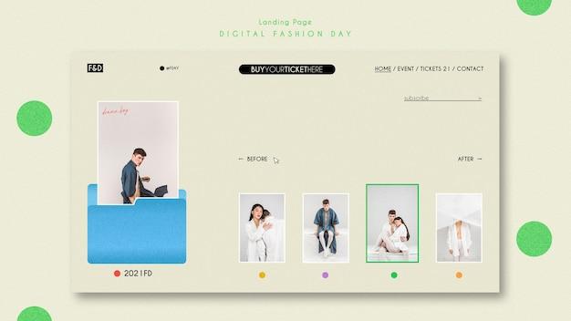 Página de destino do modelo do dia da moda