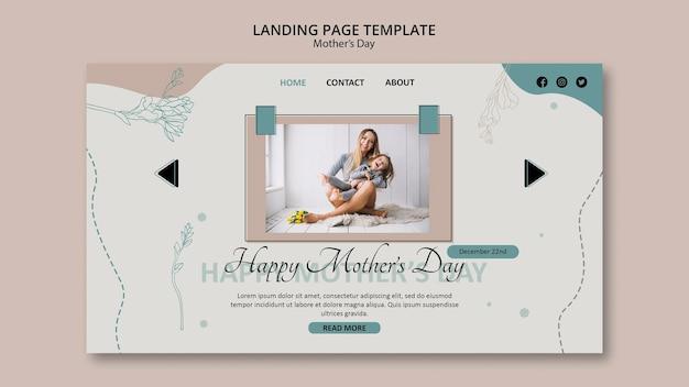 Página de destino do modelo do dia das mães