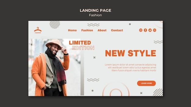 Página de destino do novo estilo da moda