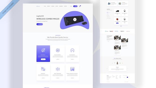 Página de destino do produto