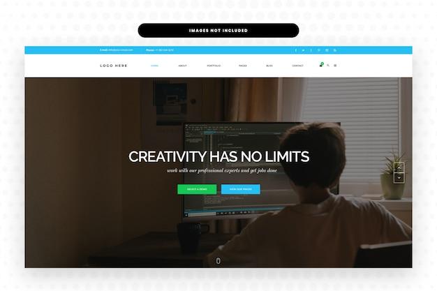 Página de destino do site do desenvolvedor da web