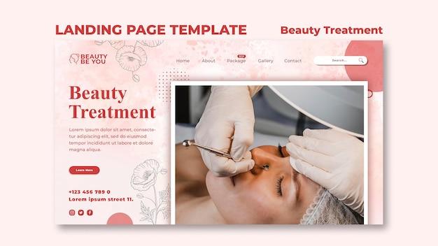 Página de destino do tratamento de beleza