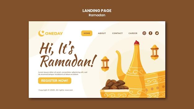 Página de destino ilustrada do ramadã