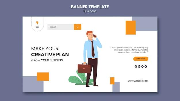 Página de destino para empresa com plano de negócios criativo